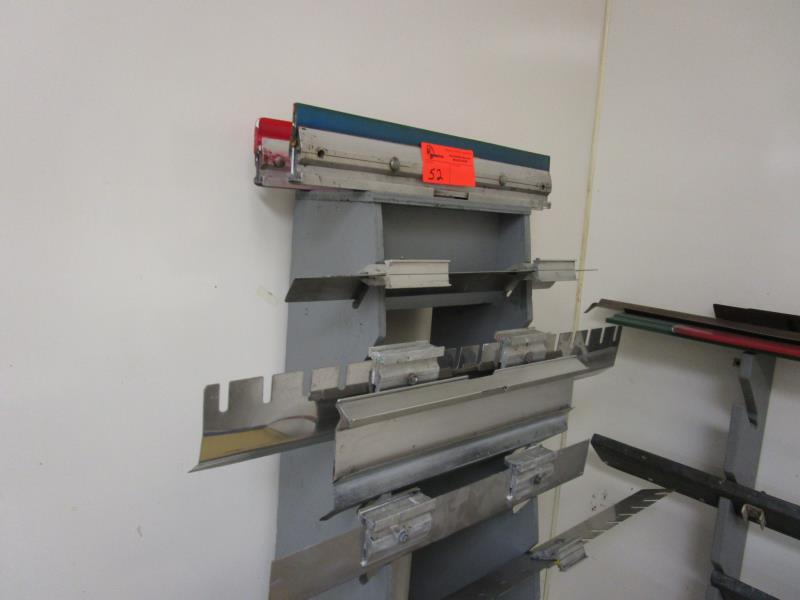 Lot 52 - (2) Squeegee Racks w/ Contents