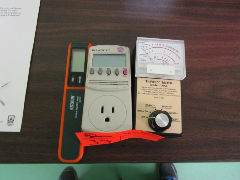 Lot 33 - Trifield Meter, Model: 100XE, Kill-Awatt Meter & Extech Surface Mount R/C Meter, Model: RC100