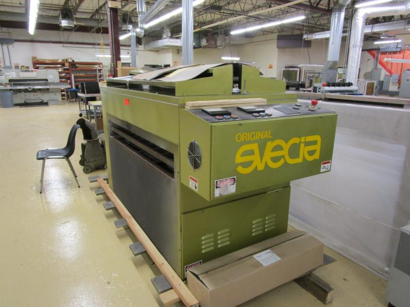 Lot 9 - UV Dryer, 2 Bulb, Original Svecia, 5' Opening, Made 1989, Type: Hypron, SN: 88487