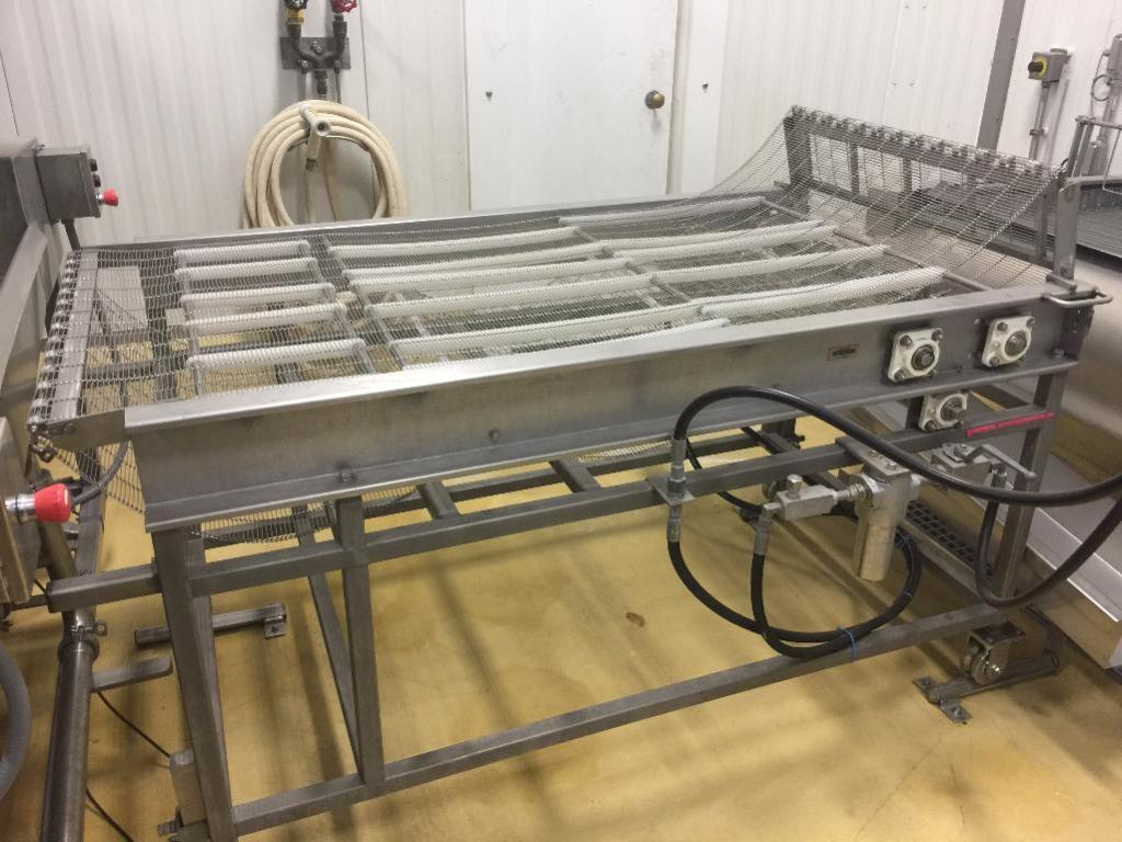 Lot 85 - Stainless Steel Wire Mesh Belt Conveyor