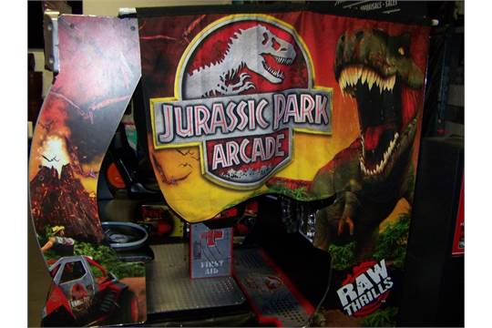 JURASSIC PARK MOTION DELUXE ARCADE RAW THRILLS Item is in used