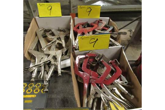 LOT ASST  VISE GRIP WELDING CLAMPS, ETC  (3 BOXES)