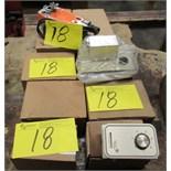 LOT ASST. 2-BELIMO NFBUPS-S VENT OPENER, 4-INVERSEY HC-201 DUCT HUMIDISTAT, 2-JOHNSON CONTROL T26S-