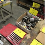 LOT ASST. STM JSN-12 TAPPING ATTACHMENT, HOLD DOWN SET, PARALLELS, ETC.
