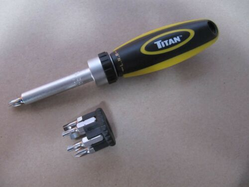 Lot 29 - 6 x Ratcheting Screwdriver set. 7 bits. Handy size. Titan Tools 11014 no vat on hammer.You will