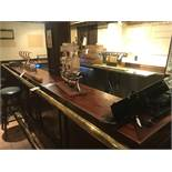 13' x 7' Wood L Shaped Bar (NO BRASS RAILS)