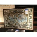 """Framed Print of Ancient World 37"""" x 25"""""""