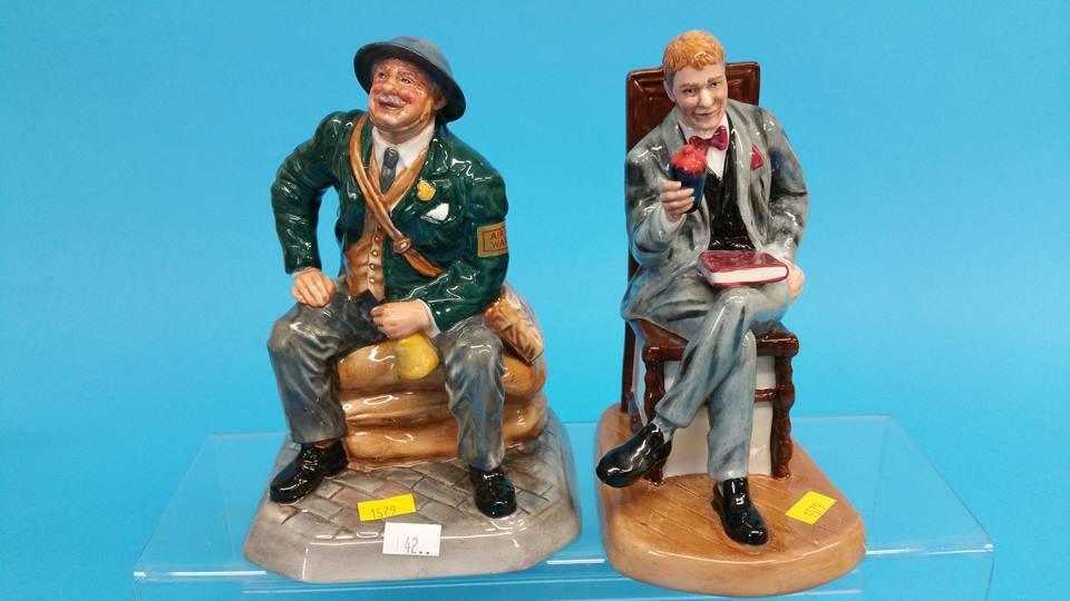 Lot 42 - Two Royal Doulton figures 'Air Raid Precaution War