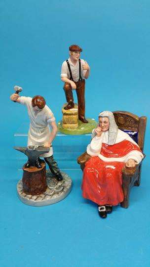 Lot 49 - A Royal Doulton figure 'Farmer' HN4487, 'Blacksmit