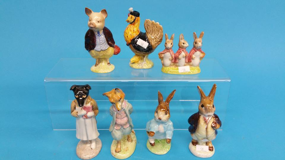 Lot 58 - 7 Beswick, Beatrix Potter figures, including 'Pick