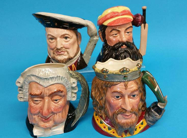 Lot 7 - Four Royal Doulton character jugs