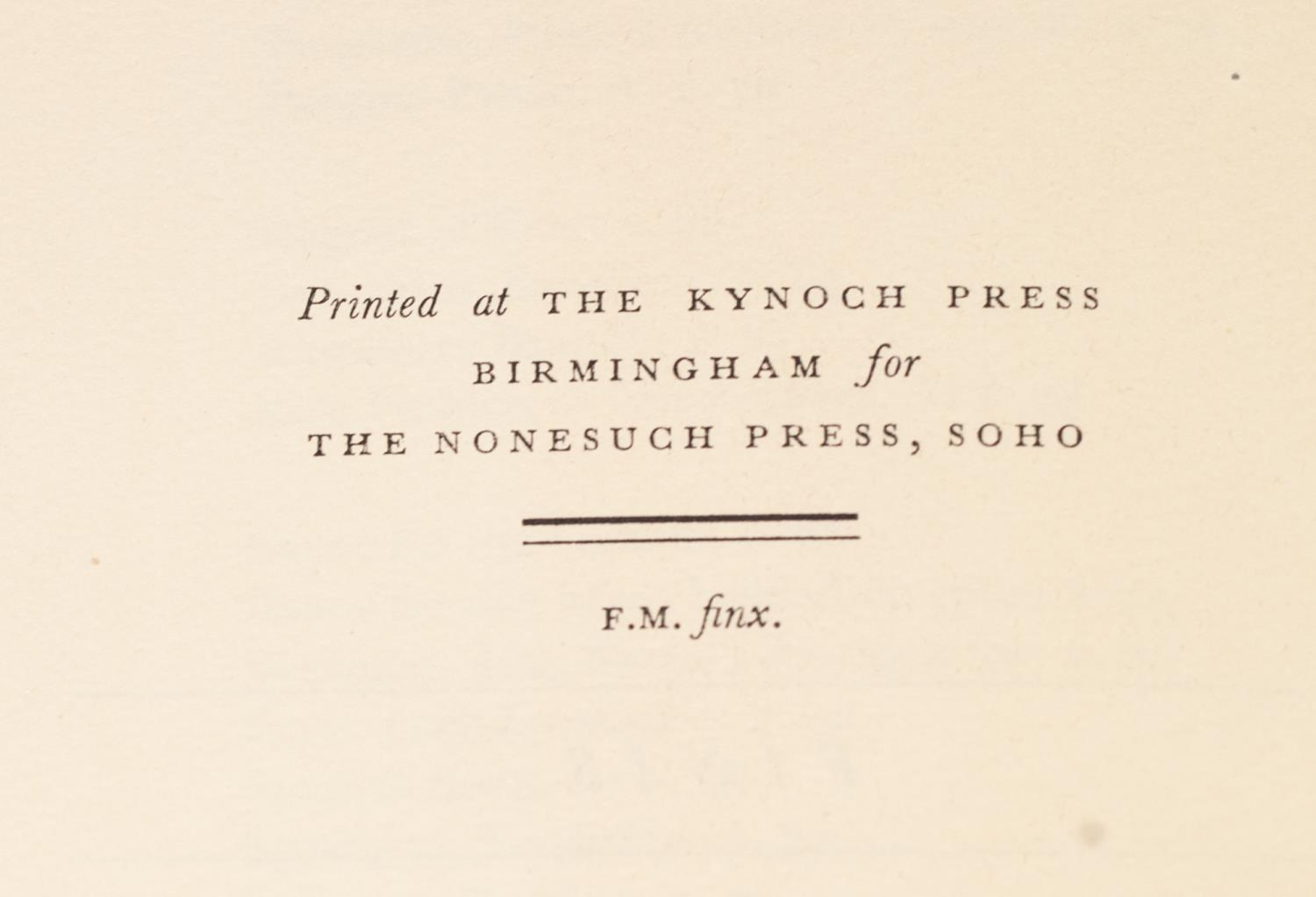 PRIVATE PRESS - TWO TITLES FROM THE NONESUCH PRESS to include The Receipt Book of Elizabeth Raper - Image 5 of 7
