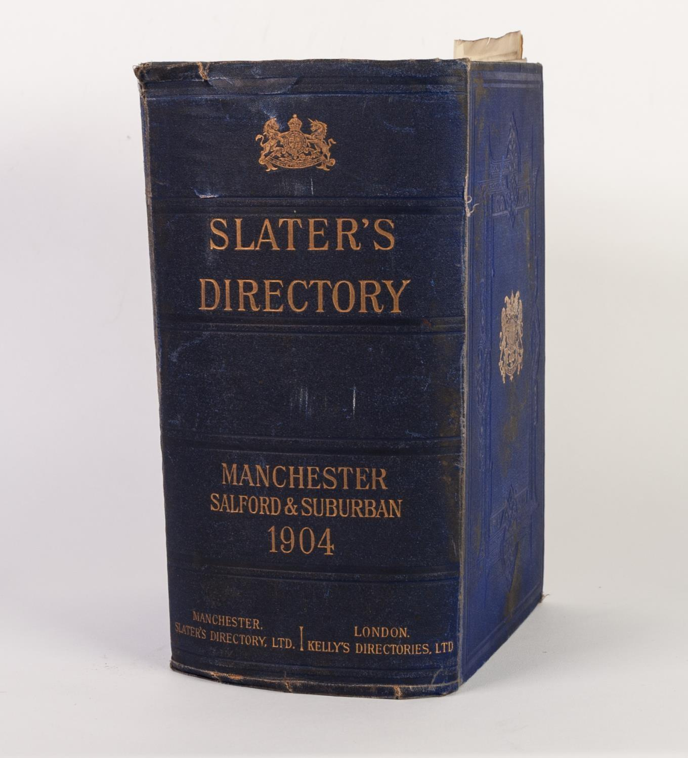 SLATERS MANCHESTER SALFORD AND SUBURBAN DIRECTORY 1904. Complete with plan of Manchester amd map