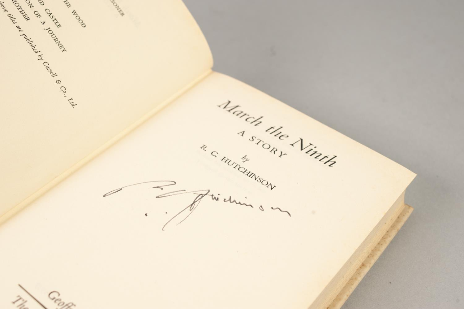 SIGNED TITLES: RICHARD MASON, The Wind Cannot Read, 1947, with dust jacket; E C LARGE, Sugar in - Image 9 of 18