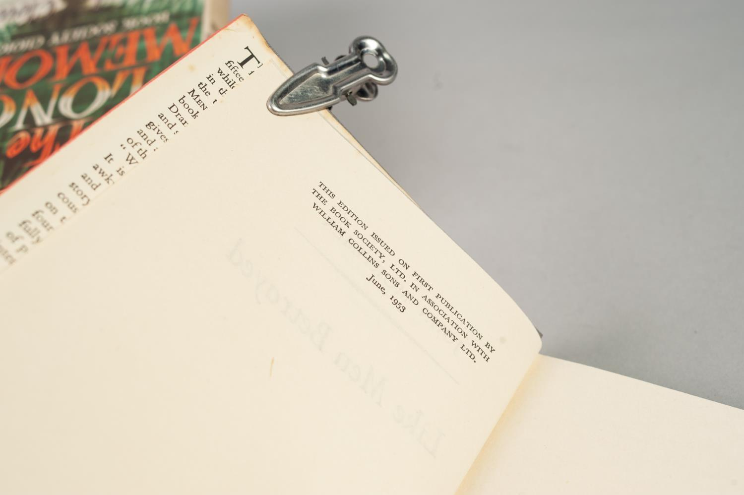 SIGNED TITLES: RICHARD MASON, The Wind Cannot Read, 1947, with dust jacket; E C LARGE, Sugar in - Image 13 of 18