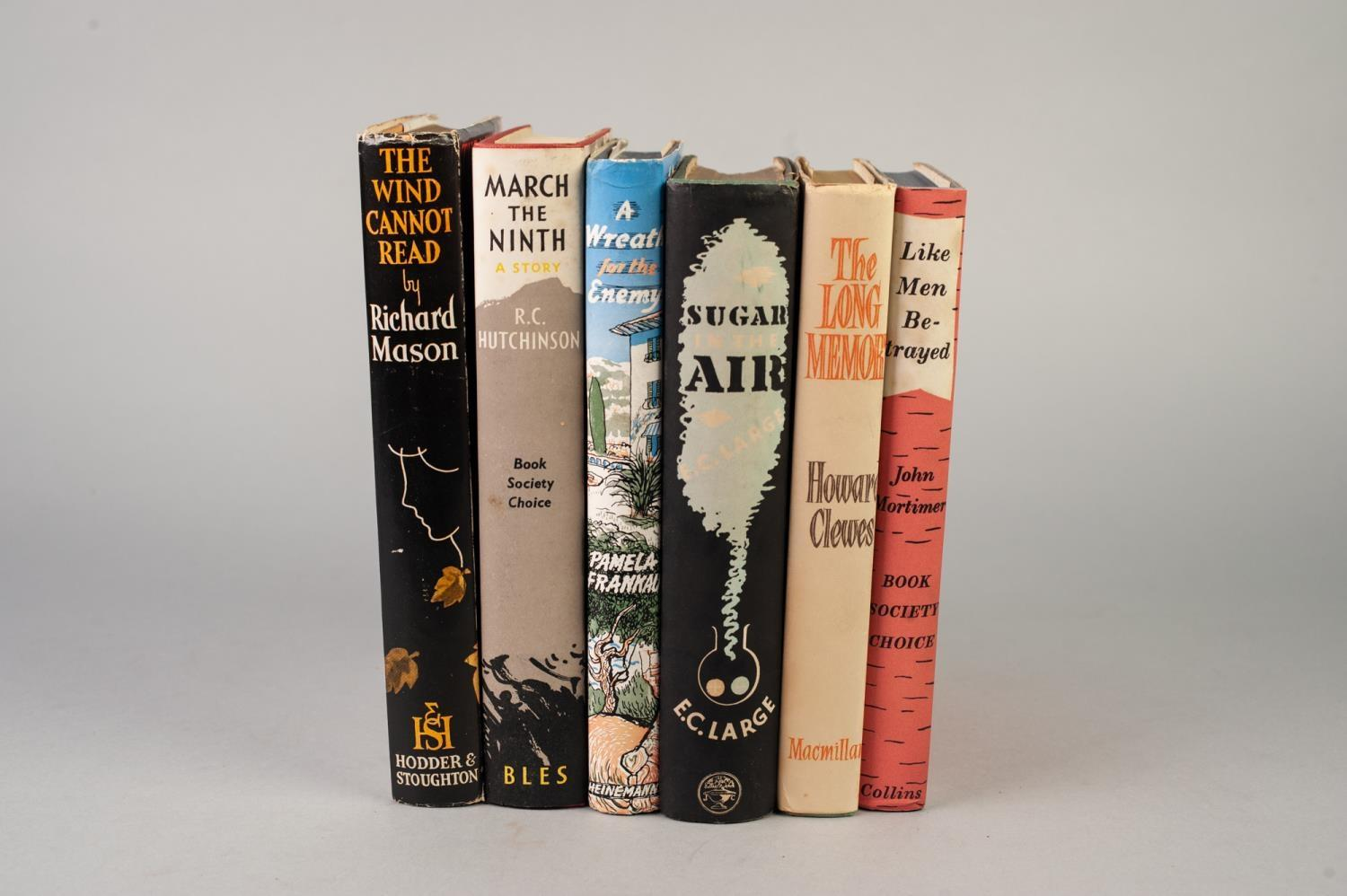 SIGNED TITLES: RICHARD MASON, The Wind Cannot Read, 1947, with dust jacket; E C LARGE, Sugar in - Image 2 of 18