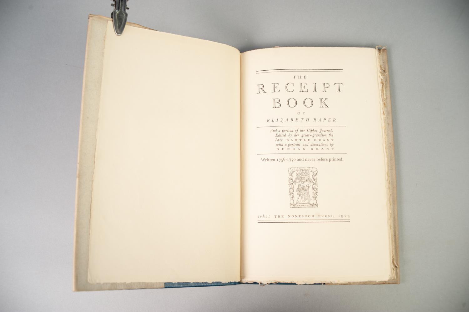 PRIVATE PRESS - TWO TITLES FROM THE NONESUCH PRESS to include The Receipt Book of Elizabeth Raper - Image 3 of 7