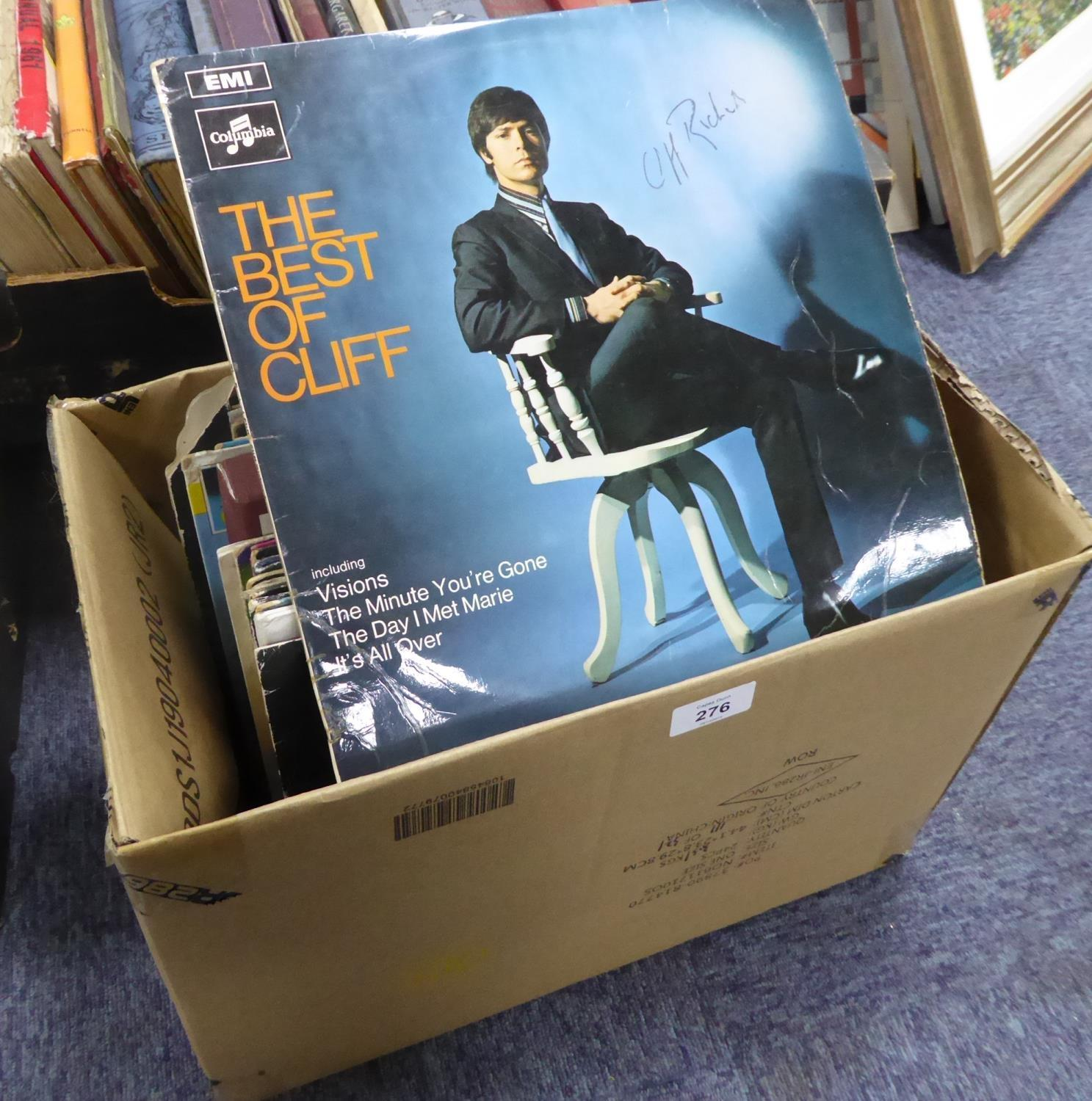Lot 276 - CLIFF RICHARD- 33RPM VINYL RECORDS, 1960' s and later, including a copy of 'The Best of Cliff',
