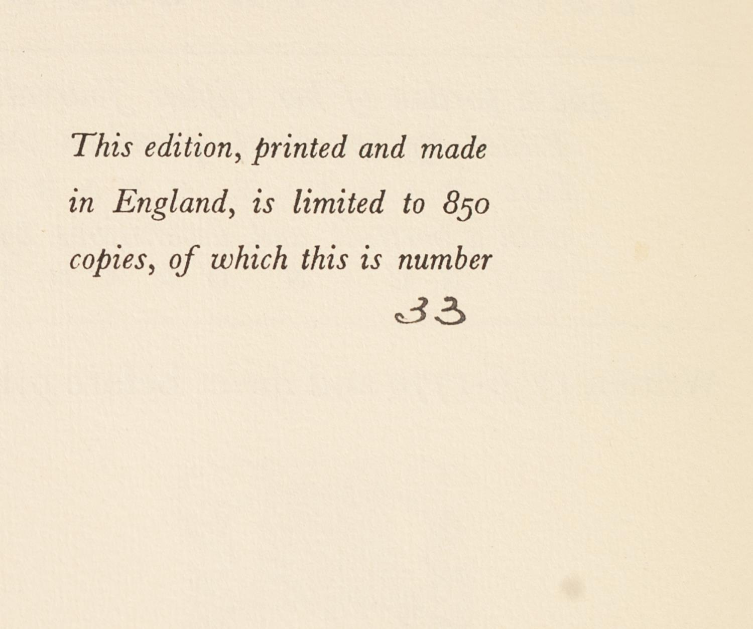 PRIVATE PRESS - TWO TITLES FROM THE NONESUCH PRESS to include The Receipt Book of Elizabeth Raper - Image 4 of 7