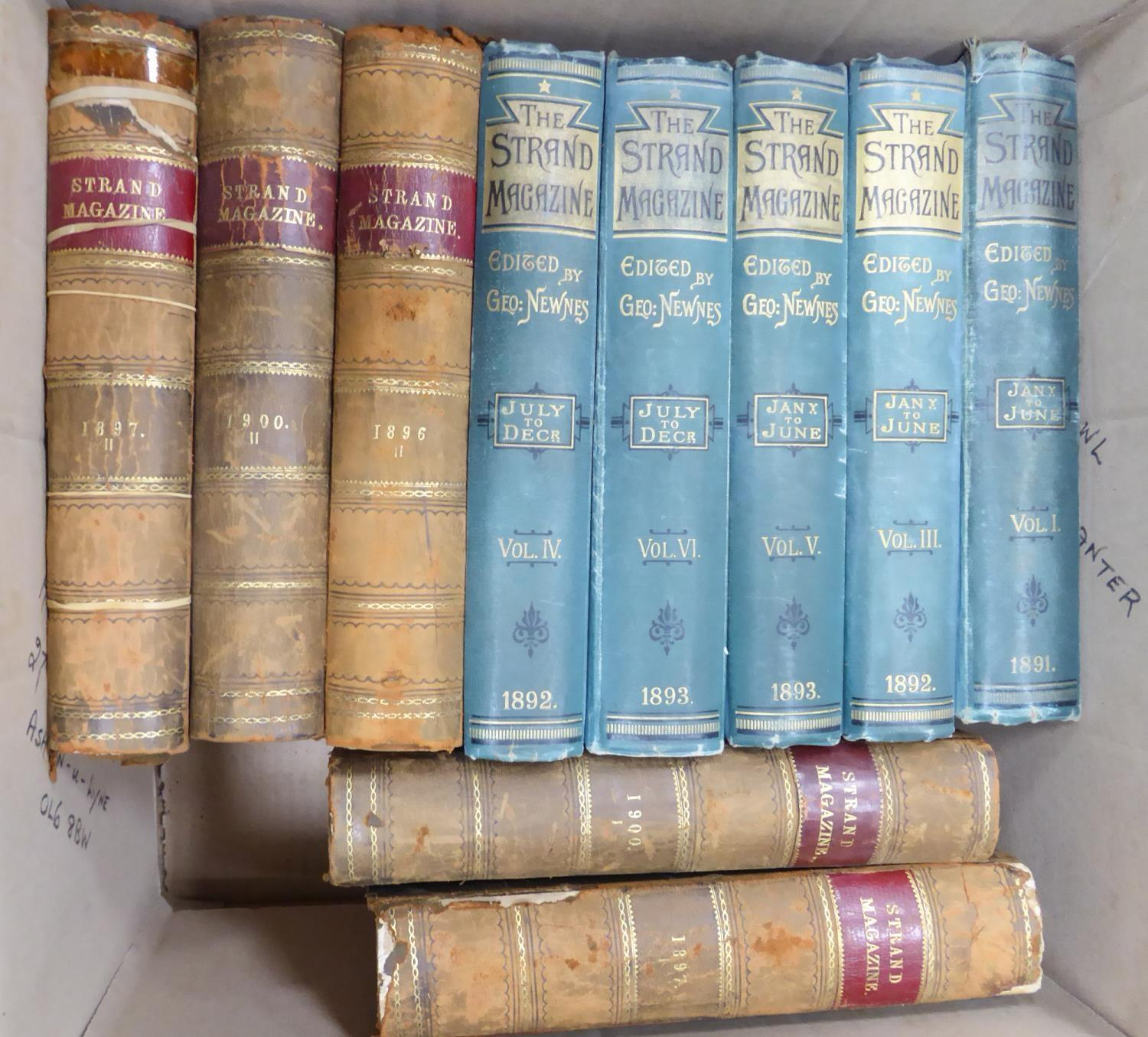 Lot 131 - SHERLOCK HOLMES - THE STRAND MAGAZINE George Newnes Volume I, III, IV, V, VI (1891 -93) covering