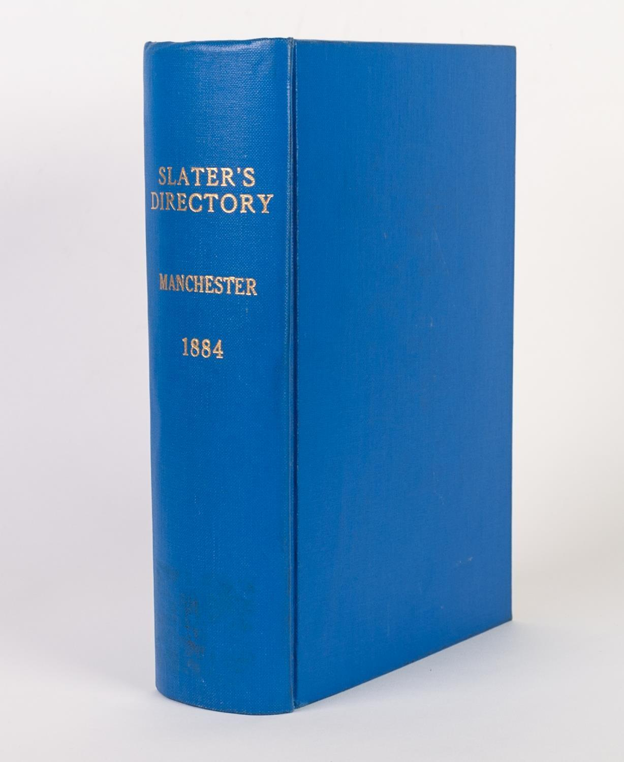 SLATERS DIRECTORY OF MANCHESTER & SALFORD and their vicinity 1884, Library cloth complete with