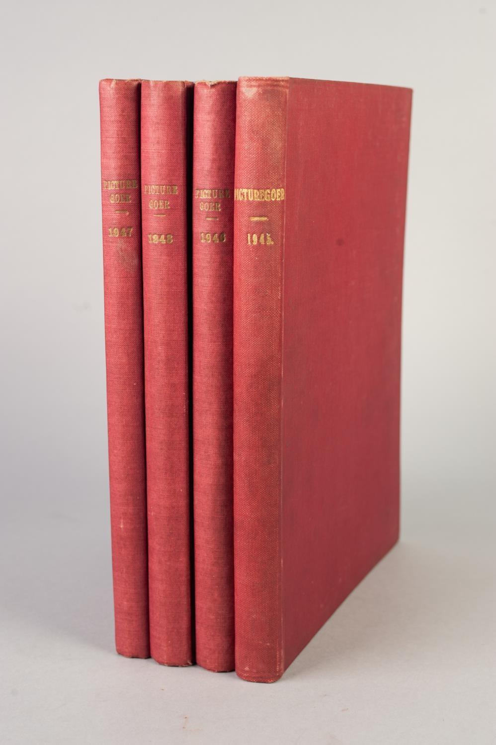 SMALL SELECTION OF PICTUREGOER ANNUALS, 1940s, bound in red cloth, 1945, 1946, 1947, 1948, various