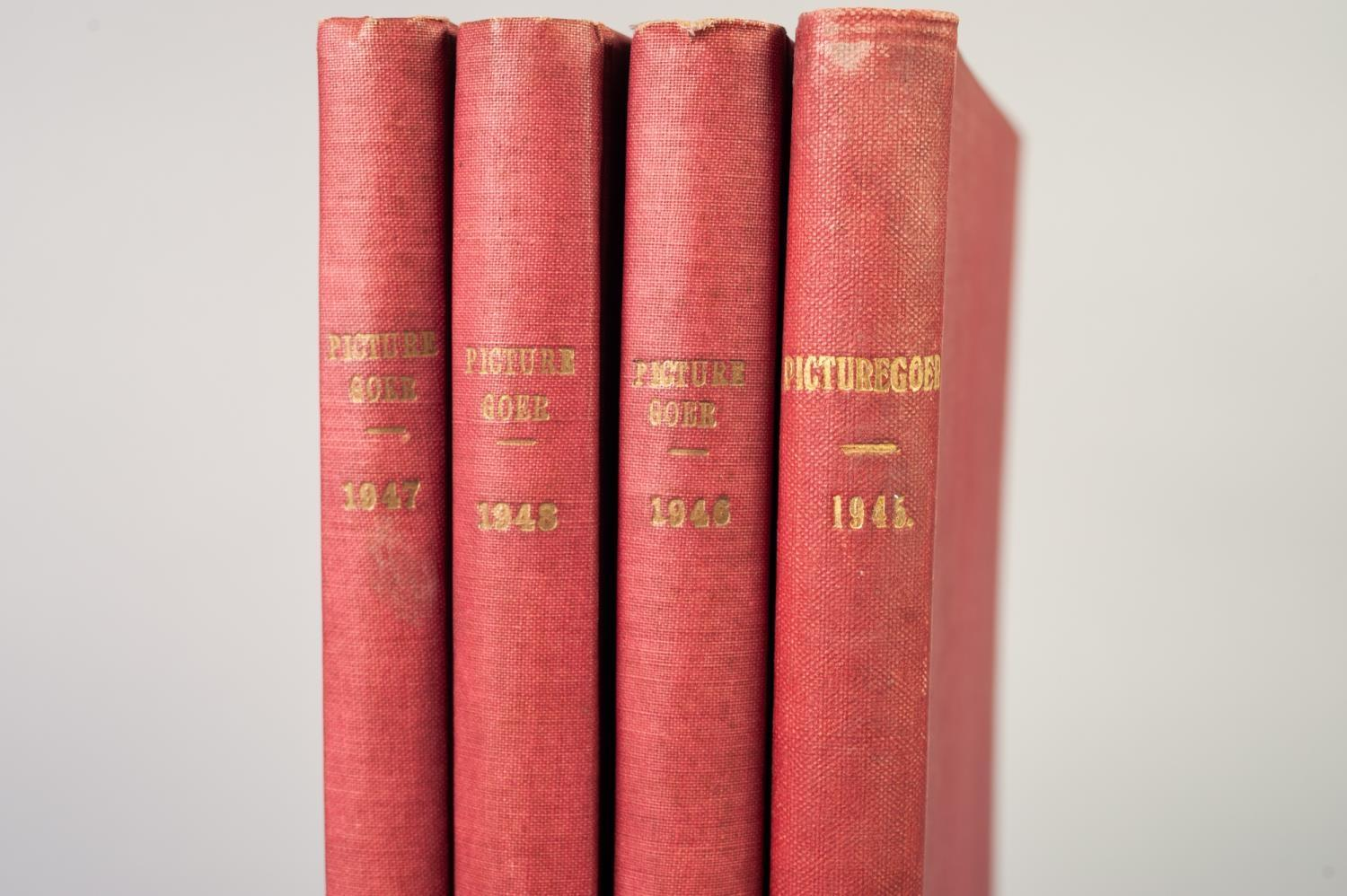 SMALL SELECTION OF PICTUREGOER ANNUALS, 1940s, bound in red cloth, 1945, 1946, 1947, 1948, various - Image 2 of 3