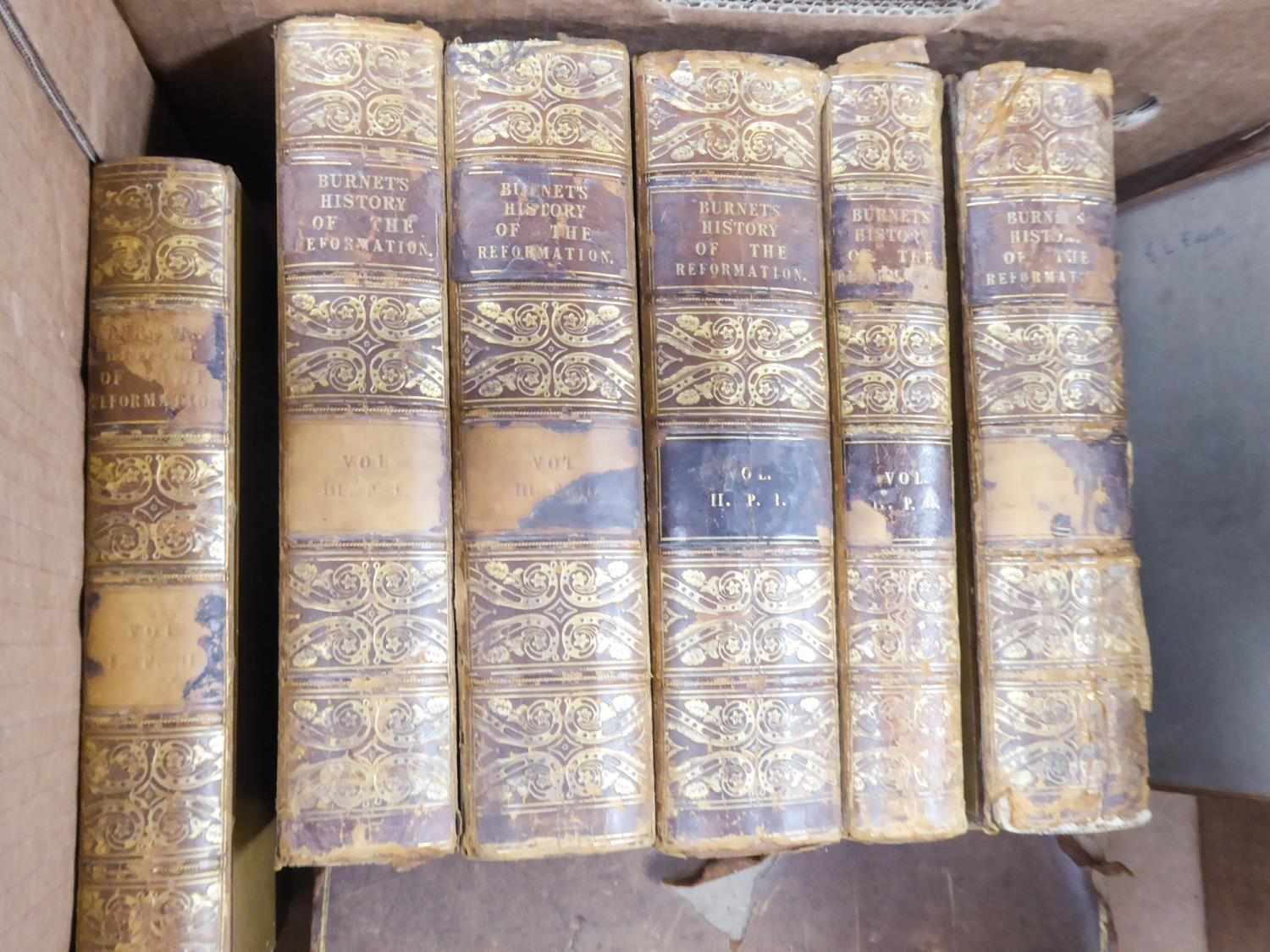 BISHOP R BURNET, THE HISTORY OF THE REFORMATION, 6 volumes (3 volumes, 2 parts per volume),