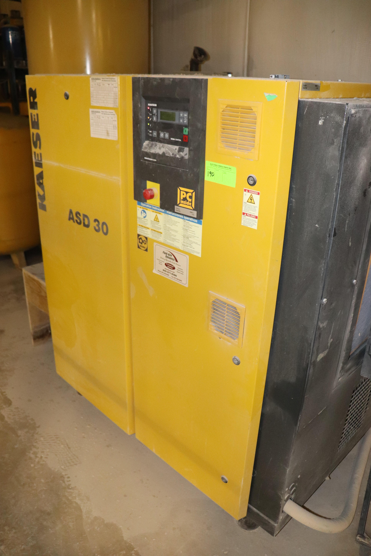 Lot 190 - Kaeser model ASD30 rotary screw type air compressor