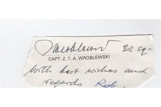 Flight Lieutenant Zbigniew Wroblewski Signature of Polish
