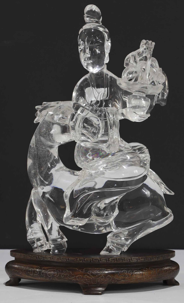 Chinese Carved Rock Crystal Figure