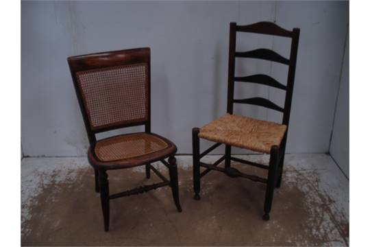 Regency Nursing Chair With Cane Seat U0026 Back U0026 Ladder Back Chair With Rush  Seat