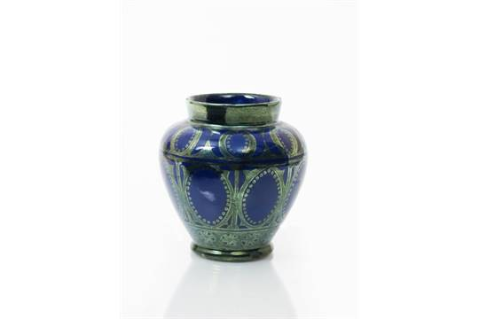 A Bushey Heath Pottery Vase Possibly By John Or James Hersey Shouldered Form Painted With Band