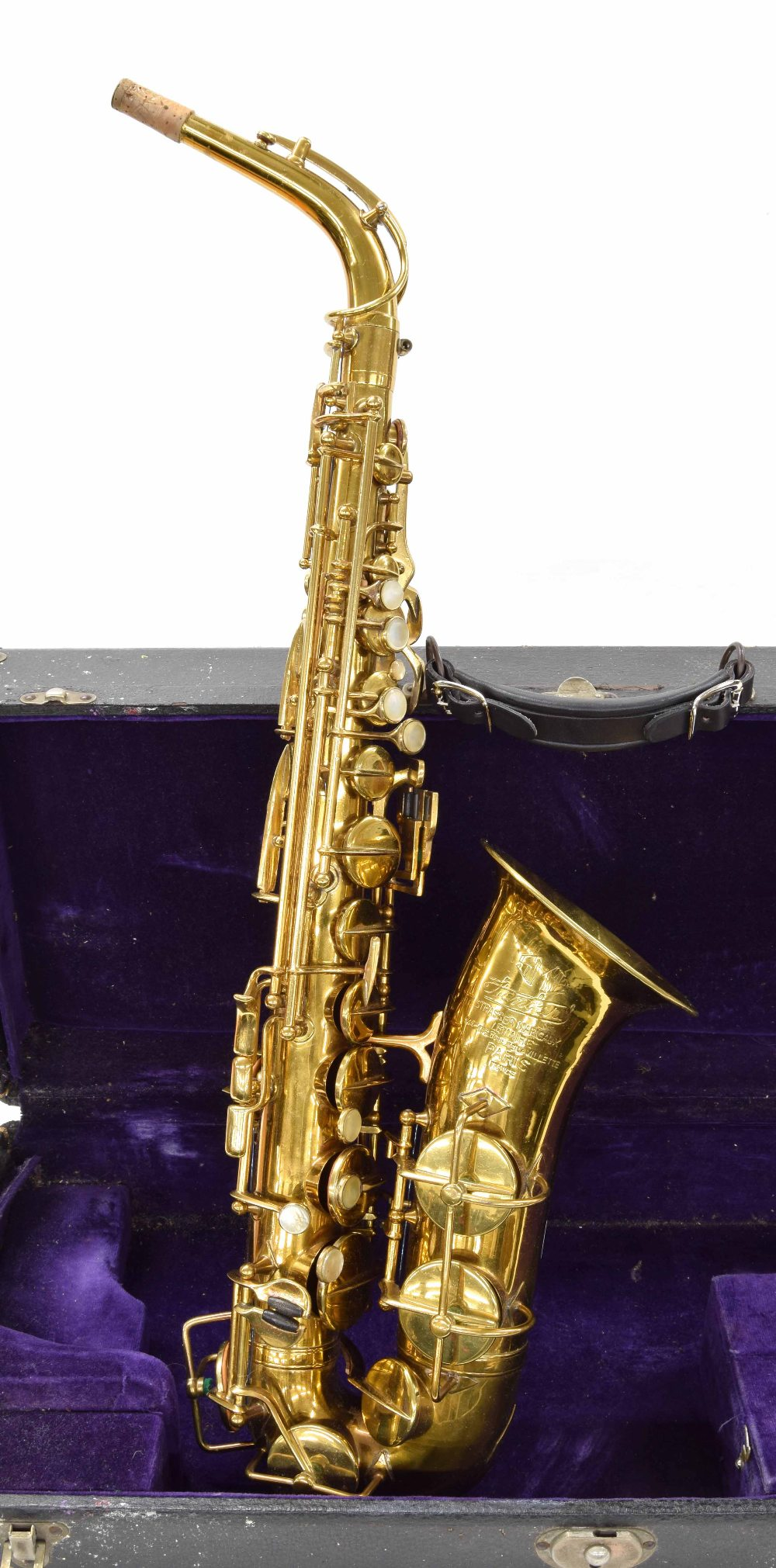 Lot 867 - Strasser Marigaux standard gold lacquered alto saxophone, no. 7630, case