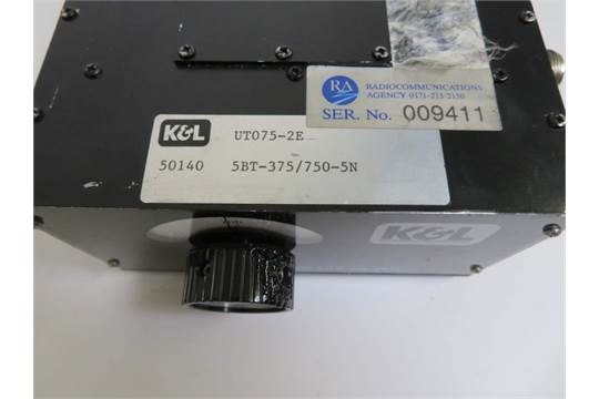 K&L 5BT-375/750MHz-5N Tunable Bandpass Filter - 4602