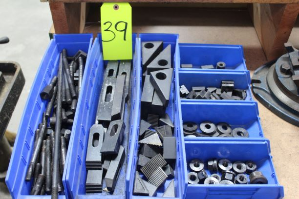 Lot of Holddown Studs, Nuts, Washers, Clamps, & Step Riser Blocks