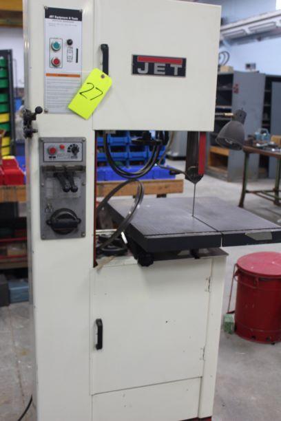 """JET Model VBS-1610 16"""" Vertical Bandsaw, S/N 414485, Blade Welder / Grinder - Image 2 of 3"""