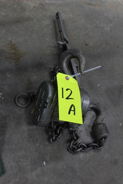 CM 1-1/2 Ton Ratchet Lever Type Chain Hoist
