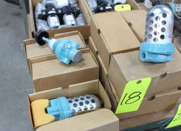 Lot of Wilkerson Air Line Treatment Accessories, Including 6) Filters, 2) Regulators, 1) Lubricator,