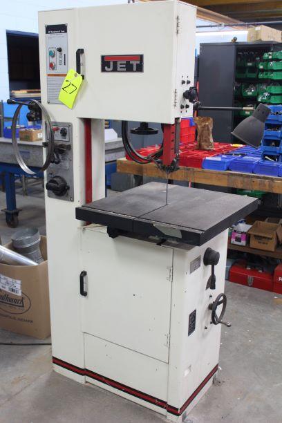 """JET Model VBS-1610 16"""" Vertical Bandsaw, S/N 414485, Blade Welder / Grinder"""