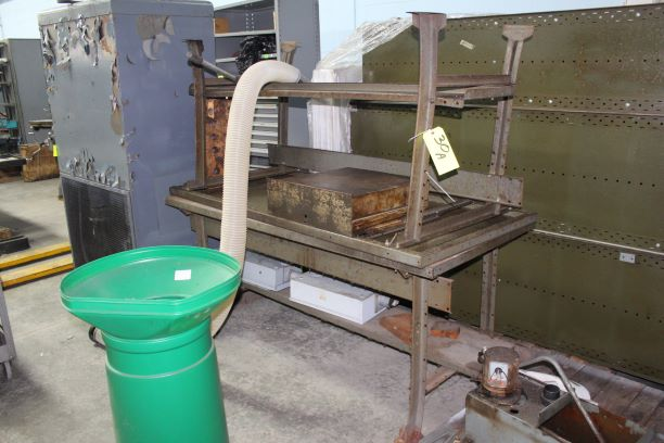Lot of 2) Metal Workbenches