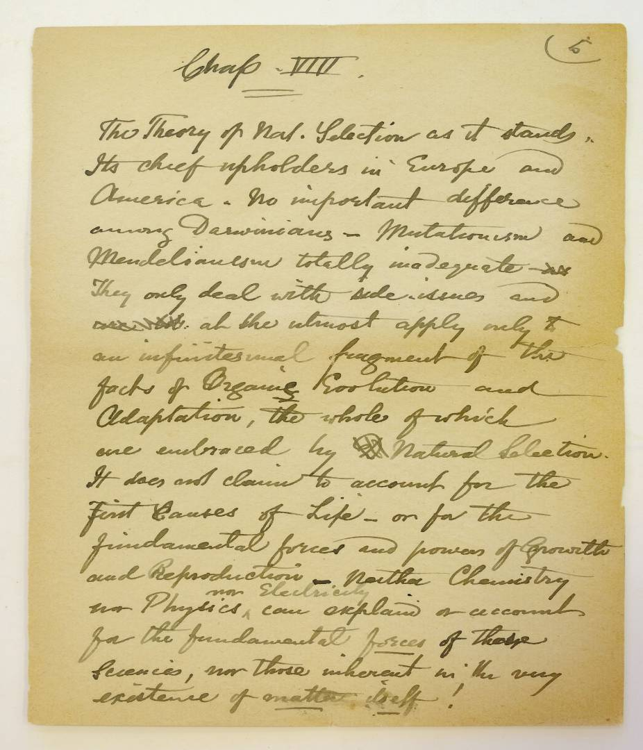 *Wallace (Alfred Russel, 1823-1913). 'Notes for the use of Mr. James Marchant as to his proposed - Image 5 of 6