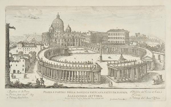 Lot 48 - Rossi (Giovanni Giacomo de, & Falda, Giovanni Battista). Il Nuovo teatro delle fabriche, et
