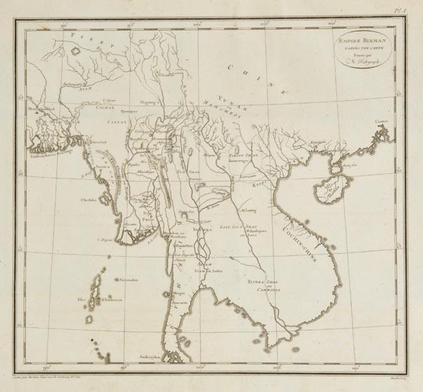 Lot 54 - Symes (Major Michael). Relation de L'Ambassade Anglaise envoyée en 1785 dans le Royaume D'Ava ou L'