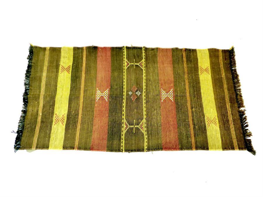 Lot 43 - A Moroccan cactus silk and cotton flatware Berber rug