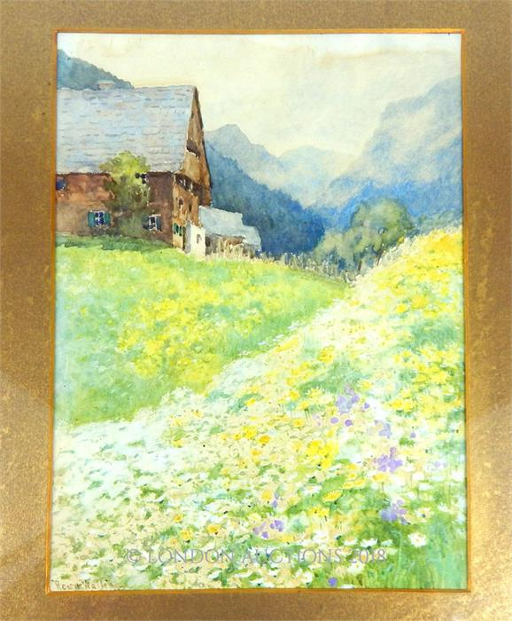 Lot 35 - Rosa Wallis (1857-1930), British, Two early 20th century, watercolours of Austria