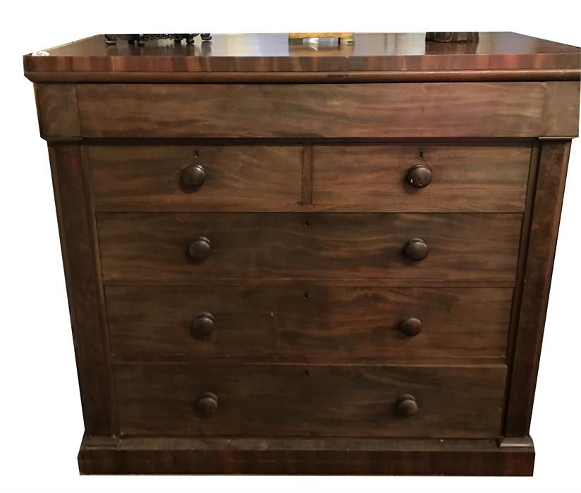 Lot 25 - A Victorian, mahogany chest of drawers