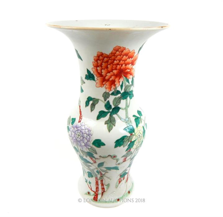 Lot 60 - A large 19th century Chinese famille vert porcelain vase