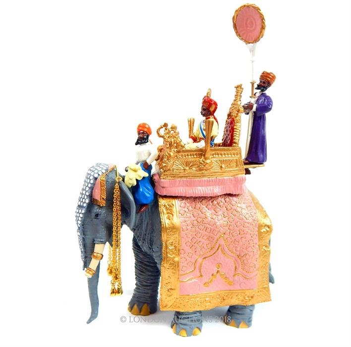 Lot 24 - A Britains Delhi Durbar Collection 'The Maharajah of Bikanir's State Elephant' 40184; with