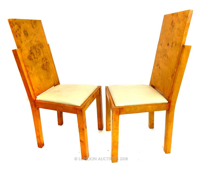 Lot 50 - A pair of Art Deco style chairs